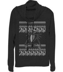 fifth sun juniors nightmare before christmas jack sweater fleece cowl neck sweatshirt