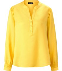 blouse ronde hals en lange mouwen van basler geel