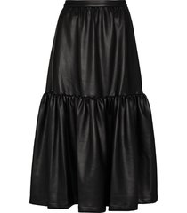 staud orchid tiered skirt - black