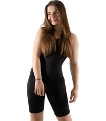 macaquinho 4 estações fitness feminino curto costas abertas liso regata esporte preto