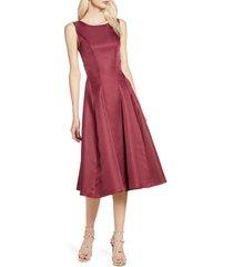 women's chi chi london bracken satin fit & flare cocktail dress