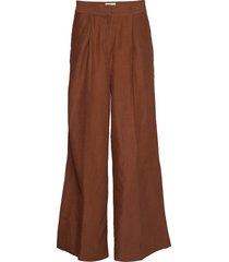 lia trousers wijde broek bruin second female