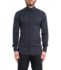 dolce & gabbana blue stretch shirt