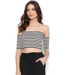 blusa lucy in the sky cropped listra - kanui