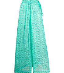 missoni mare crochet wide-leg trousers - green