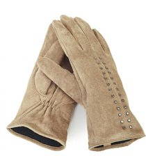 guantes tachas marrón humana