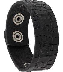 diesel embossed chunky bracelet - black