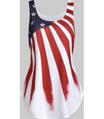 american flag print u neck tank top