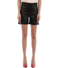 arma leather shorts black