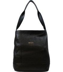 bolsa em couro recuo fashion bag totem preto