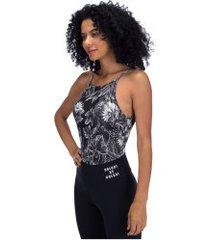 body fitness colcci estampado 425700109 - feminino - preto/branco