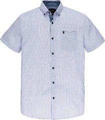 overhemd short sleeve print blauw