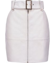 pinko belted fitted skirt - white