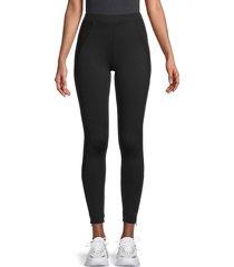 hard tail women's ankle-zip leggings - black - size xs