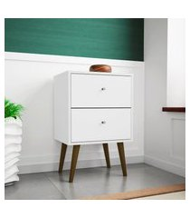 mesa de cabeceira móveis bechara mb2015 2 gavetas branco