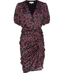 penny dress knälång klänning röd by malina
