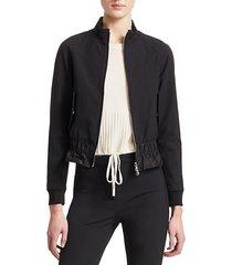 cinched waist track jacket