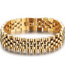 pulsera lujo acero inoxidable hombres 200mm 101608 dorado