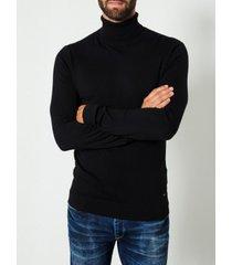 petrol knitwear collar black (col trui)