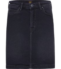 a line zip skirt kort kjol svart lee jeans