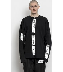 longsleeve taped black with slits