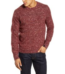 men's rag & bone theon crewneck classic fit pullover, size large - burgundy