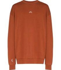 a-cold-wall* software print sweatshirt - brown