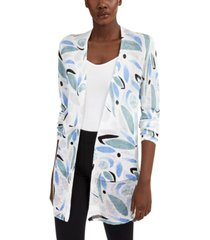 alfani printed open-stitch cardigan, created for macy's