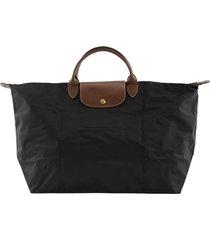 longchamp travel bag le pliage black