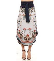 colcci printed midi skirt