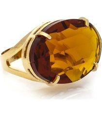 anel cristallo cristal oval topazio imperial