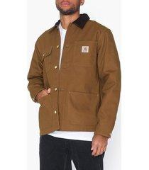 carhartt wip michigan coat jackor brown