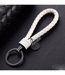 car key acorn weave paracode key chain ring grip strap fit porsche mercedes bmw