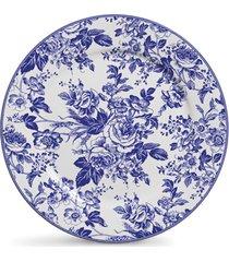 conjunto de pratos cerâmica rasos cerâmica garden 6pcs cj2