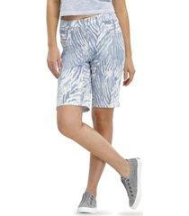 hue ultra-soft denim ikat zebra bermuda shorts