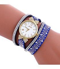 reloj azul sasmon re-16203