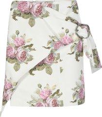 paco rabanne floral print detail skirt