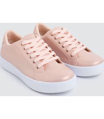 tenis mujer lisos rosa color rosado, talla 35