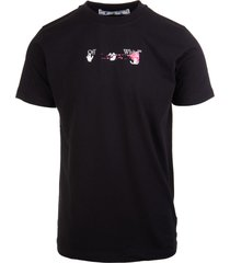 off-white man black acrylic arrows printed t-shirt