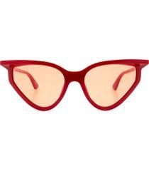 balenciaga balenciaga bb0101s red sunglasses