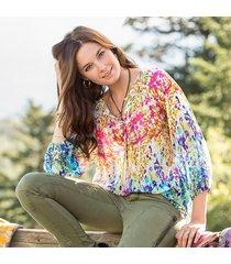 impressionist blooms pasha blouse