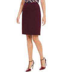 calvin klein soft crepe pencil skirt