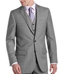 egara gray sharkskin slim fit suit separates coat
