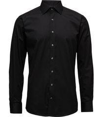 plain fine twill shirt,wf overhemd business zwart lindbergh