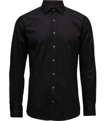 plain fine twill shirt,wf overhemd business zwart lindbergh