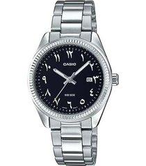 reloj analógico hombre casio mtp-1302d1b3 - plateado con negro  envio gratis*