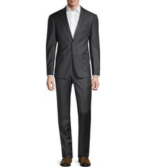 michael kors men's solid-color wool suit - dark grey - size 38 r
