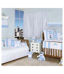 quarto completo padroeira baby baláo mágico azul