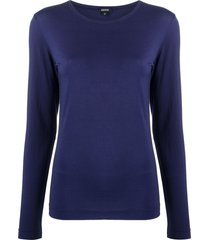 aspesi round long-sleeve t-shirt - purple