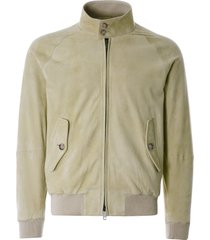 baracuta g9 suede harrington jacket | cream | ut1132-837